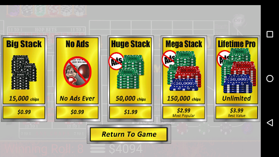 Craps Trainer Free- screenshot thumbnail