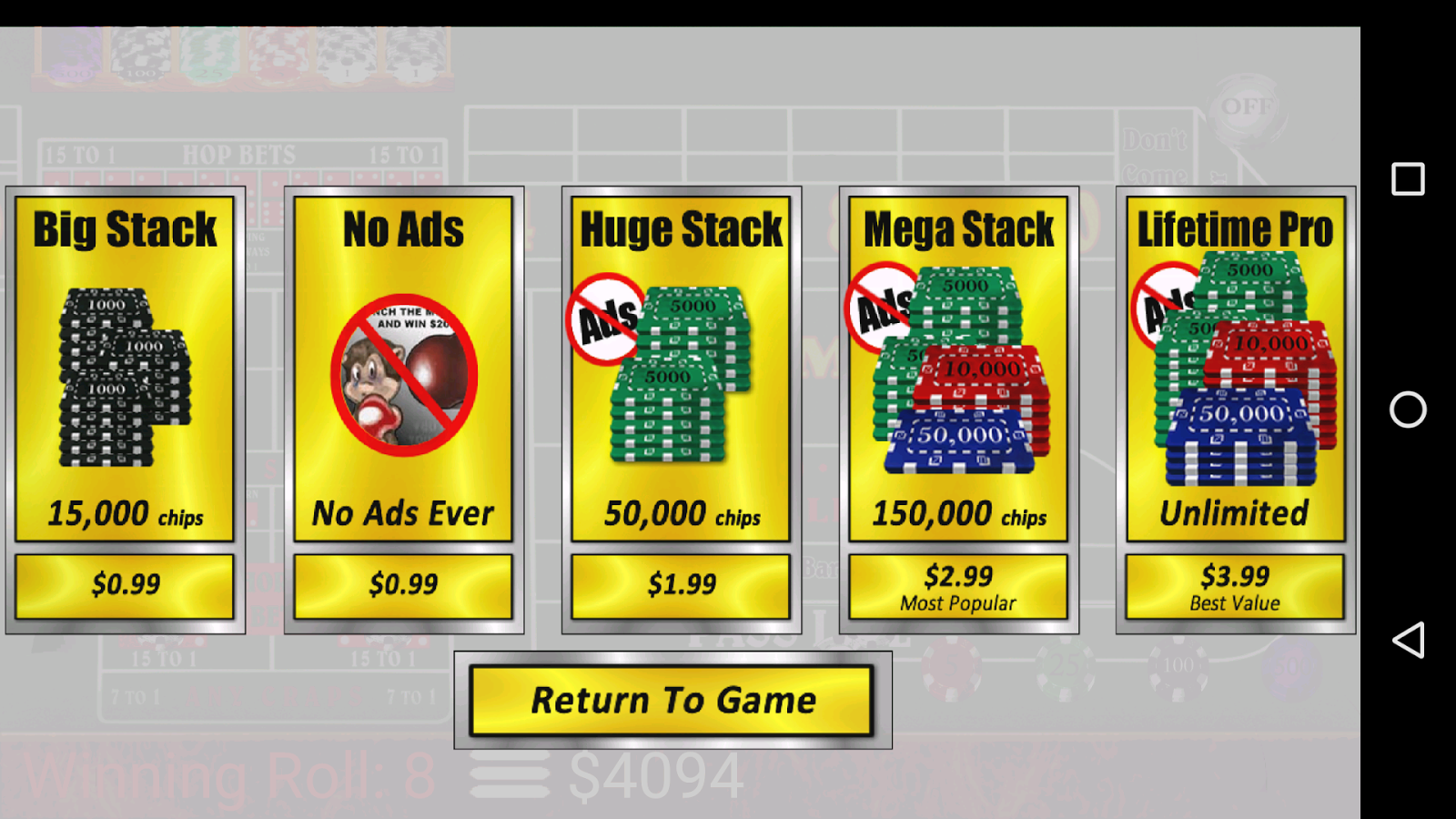 Craps Trainer Free- screenshot