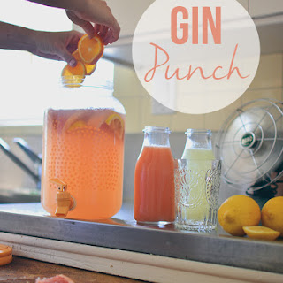 Simple Gin Punch.
