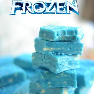 White Chocolate Fudge Inspired by Frozen