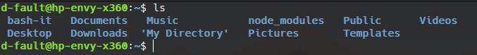 ls linux basic command