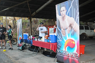 Photo: Wicked NRG, sponsors of the 6 hour, were on hand to proved a wide aray of sports nutrition products and plenty of good advice.