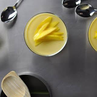 Mango Puddings With Lemongrass Syrup.