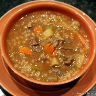 Beef Barley Soup a la Crock Pot.