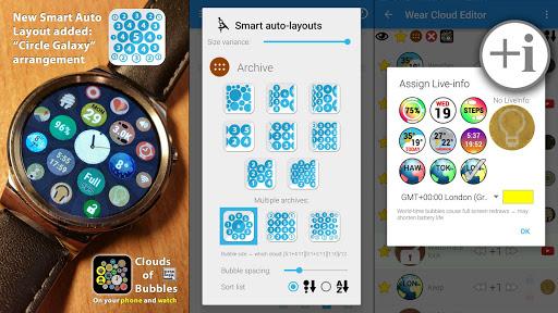 Bubble Cloud Wear Launcher Watchface (Wear OS) 9.39 screenshots 20