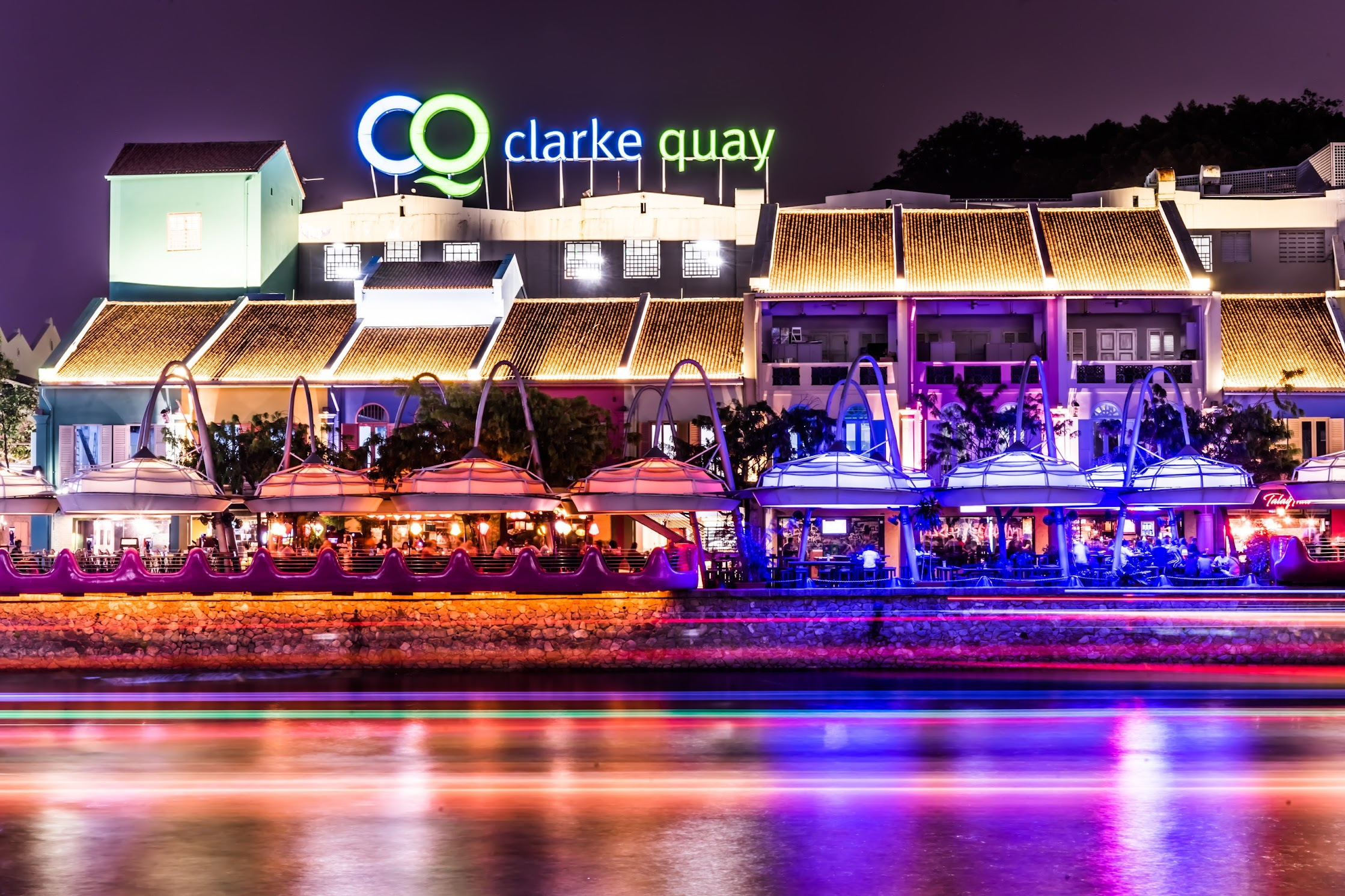Singapore Clarke Quay night view2