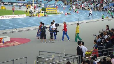 Photo: Nástup oštěpařských medailistek