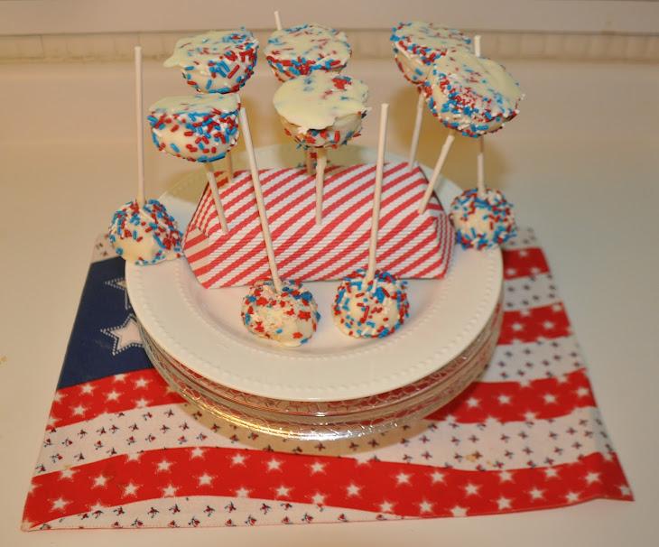 Patriotic No-Bake Gluten –Free Cheesecake Cookie Pops Recipe