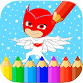 Coloring book for Pj of Masks