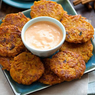 Sweet Potato Fritters with Sriracha Mayo Recipe