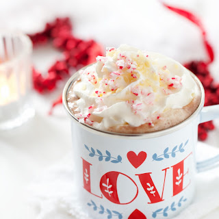 Candy Cane Hot Chocolate with Popping Candy