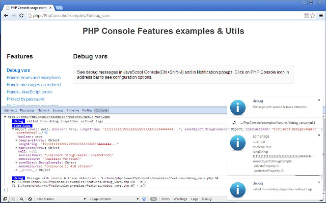 PHP Console Chrome Web Store - Artist inserts computer error messages into human lives