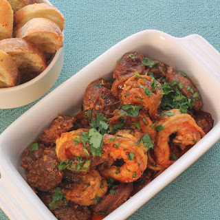 Shrimp and Chorizo Tapas.