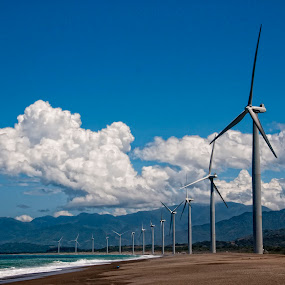 Bangui Windmills by Jon Gonzales - Landscapes Travel ( ilocos norte, bangui, windmill )
