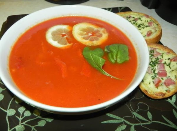 Here is the recipe for the http://www.justapinch.com/recipes/soup/vegetable-soup/roasted-red-pepper-soup-3.html?p=10 by Eddie Jordan.