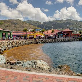 Crown Bay by Debbie Jones - Landscapes Travel ( harbor, st thomas, virgin islands, crown bay )