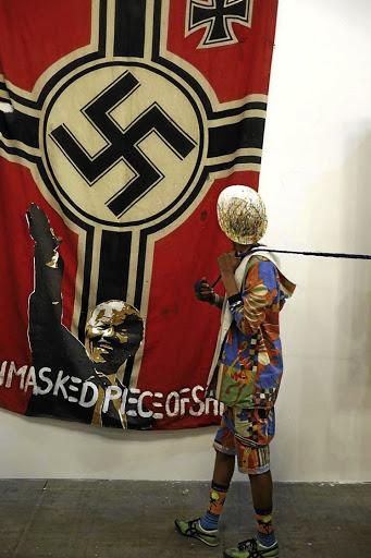 Ayanda Mabulu's 'Nazi Madiba' sparks outrage at Joburg Art Fair