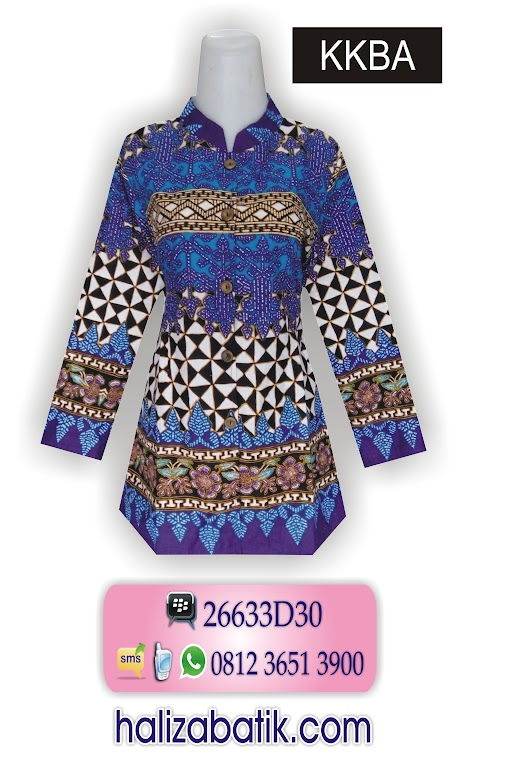 Batik Modern Wanita, Batik Fashion, Model Blus Batik