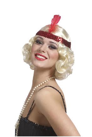 Peruk Flapper, blond