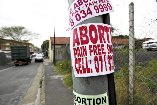 Until 1997, abortions were only available in SA under very limited circumstances. Picture: JACKIE CLAUSEN/ SUNDAY TIMES