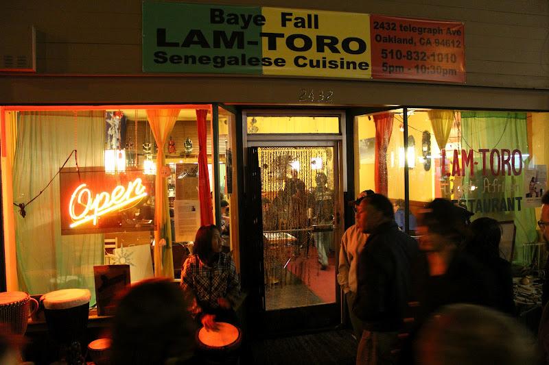 Photo: Drummers outside Lam Toro Senegalese restaurant http://www.yelp.com/biz/lam-toro-oakland