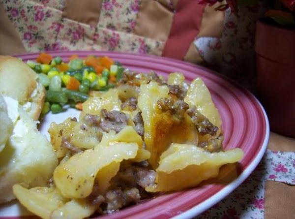 Spicy Au Gratin Beef Bake Recipe