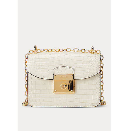 Beckett: Mini Crossbody Croco, vanilla