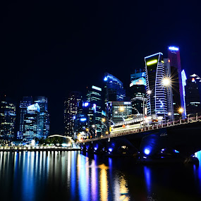 Singapore City by Azmi Jailani - City,  Street & Park  Vistas