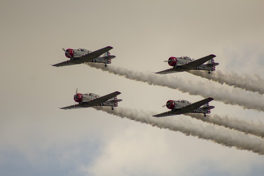 Stunt Flight by Rohan Jackson - Transportation Airplanes
