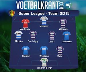 Ons team van speeldag 15 in de Super League ziet er als volgt uit