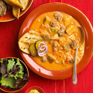 All American Cheeseburger Soup