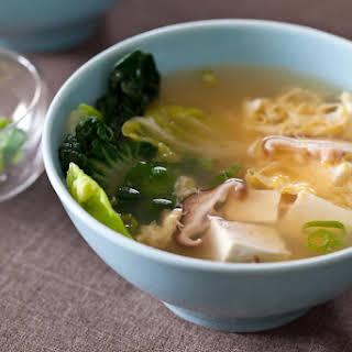 Tofu and Mushroom Miso Soup.