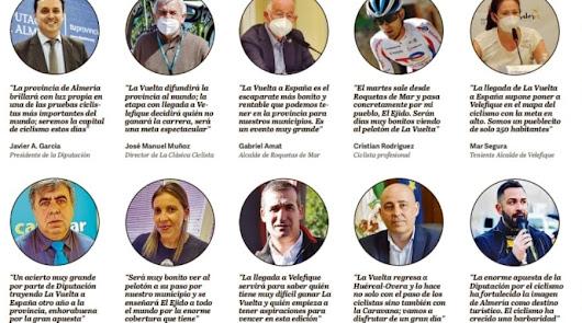 Almería aplaude a la Diputación por traer La Vuelta a España