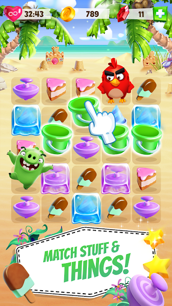 Angry Birds Match v1.3.0 [Mega Mod]