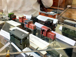 Photo: 018 Display photo 2. Bob Vaughan's box tank loco is hiding away behind the Knightwing diesel mod .