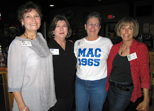 Photo: Nancy (Friday) Pettus, Virginia (Casey) Gumpp, Carol (Craven) Barnes, Linda (Wilson) Mitchell