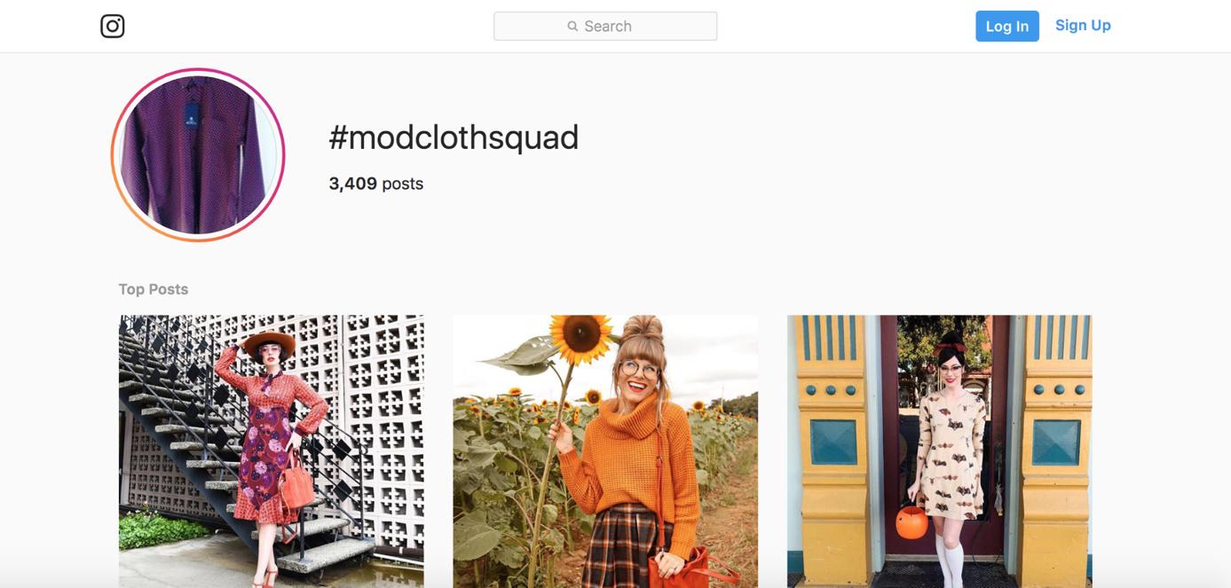 landing-page-essentials-modclothsquad nutzt testimonials auf der Landingpage