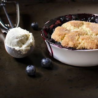Individual Mixed Berry Cobbler With a Buttermilk Biscuit
