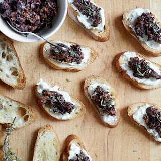 Goat Cheese Crostini with Fig-Olive Tapenade