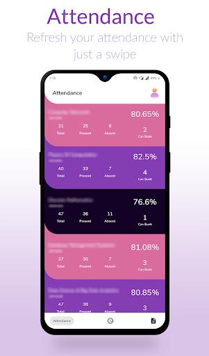srm watcher | attendance | time-table | marks screenshot 2