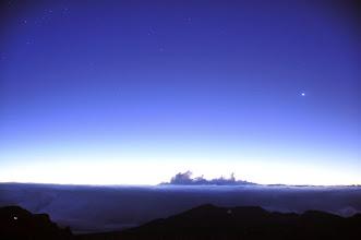 Photo: Waiting for sunrise from the summit of Haleakala.