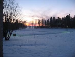 Photo: Sinistä hämärää auringon laskun kanssa 22.1.2007..