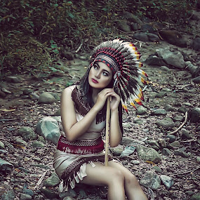 Indian girl by Momo Momo - People Portraits of Women ( model indian woman nature retouch )