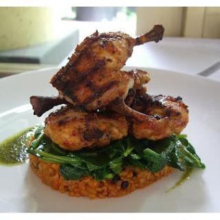 Spicy Chicken With Wine Mushroom Sauce.