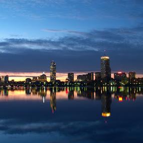 Boston, MA by Jerzy Szablowski - City,  Street & Park  Vistas