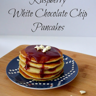 Raspberry White Chocolate Chip Pancakes