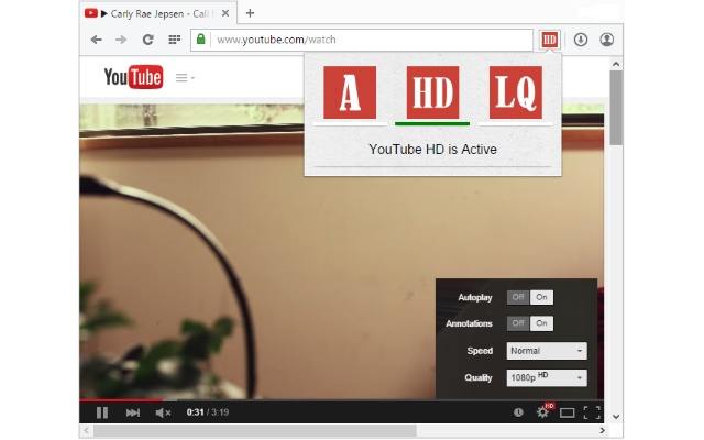 Auto HD|LQ for YouTube™