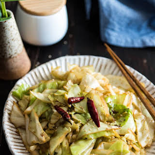 Chinese 4-Ingredient Fried Cabbage.