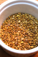 Photo: toasting mung beans for crepe batter