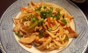 Stir-Fried Chicken & Udon Noodles